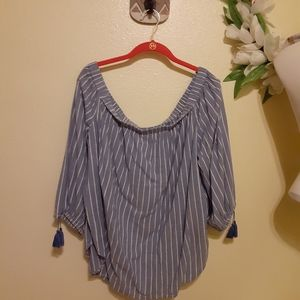 The Gap Blue Stripped top